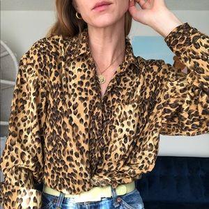 90's Leopard Button Up